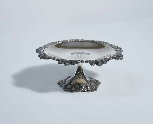 Tiffany & Co. sterling compote, berry motifs, 7.75