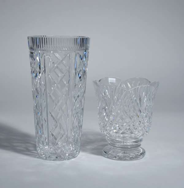 Two large Waterford crystal vases, 12