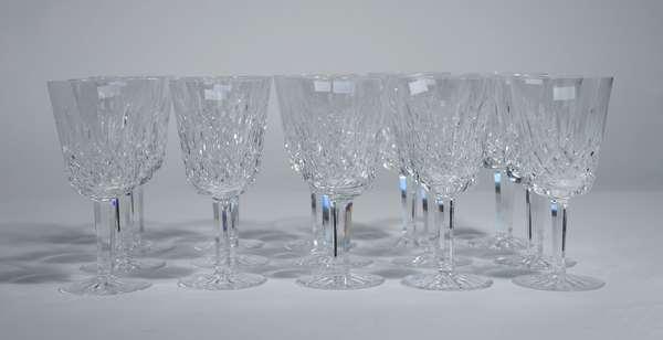 15 Waterford crystal red wine stemware/ glasses