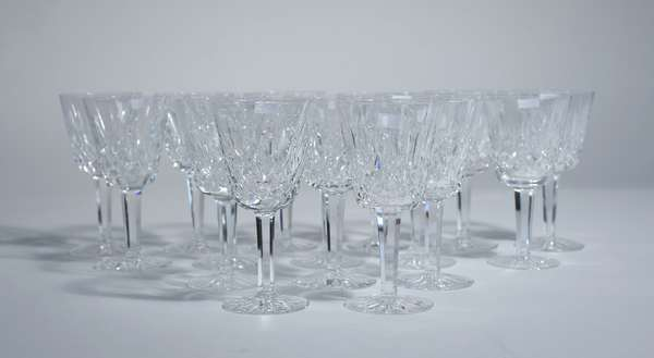 16 Waterford crystal white wine stemware/ glasses