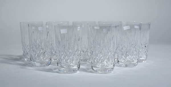 11 Waterford crystal water glasses