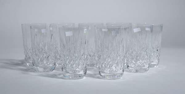 11 Waterford crystal water glasses