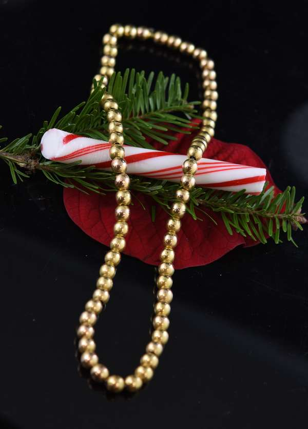 14k yellow gold bead necklace, 16