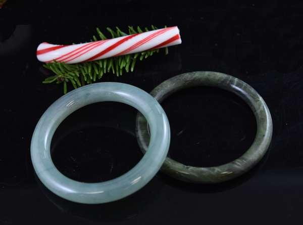 Two jade bracelets