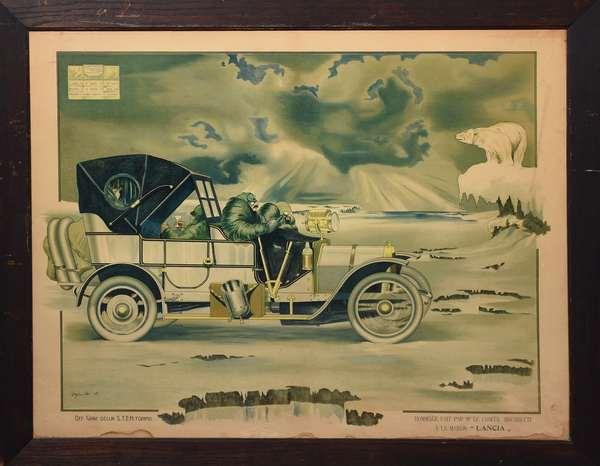 Early automobile poster, Lancia Auto Torino,