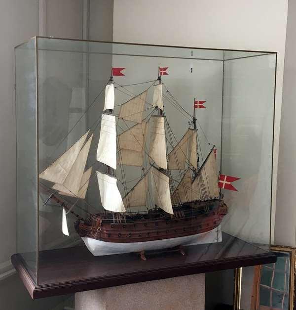 Large ship model,