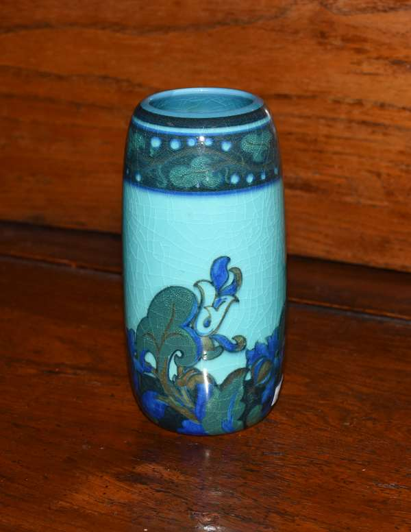 Rookwood pottery vase-2102 artist signed, 6.5