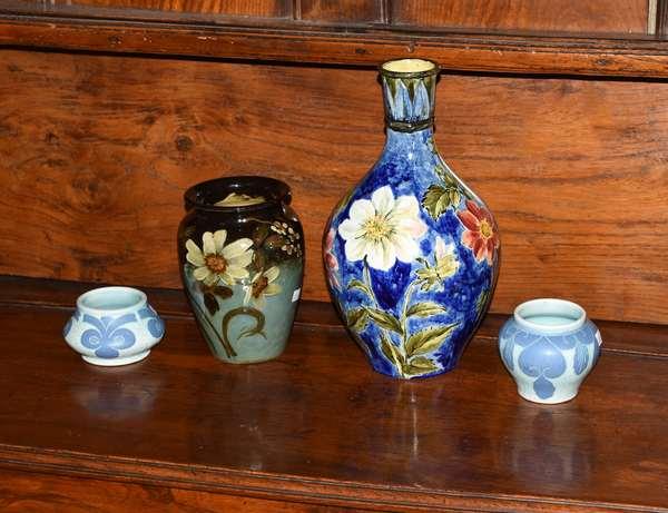 Four vases, two signed Gustavberg (379-66)