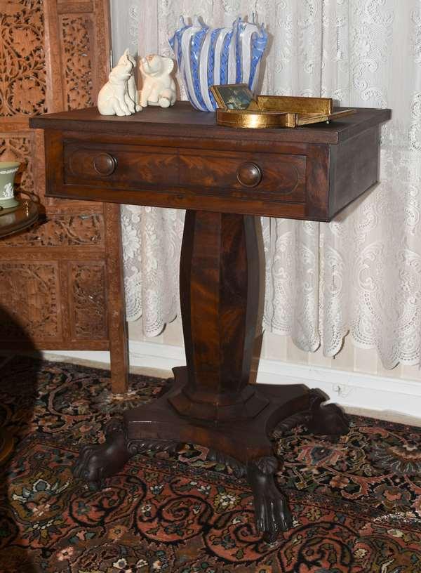 Empire mahogany one drawer stand (900-34)