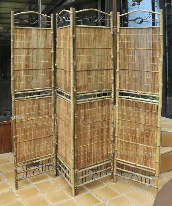 Bamboo folding screen (475-33)