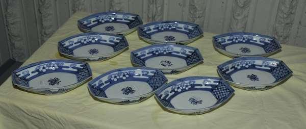 Nine Oriental sauce dishes (475-37)