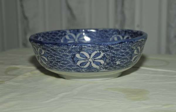 Blue and white china bowl (475-40)