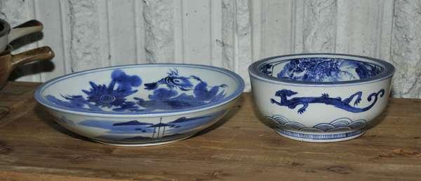 Two Japanese fish bowls (475-52)