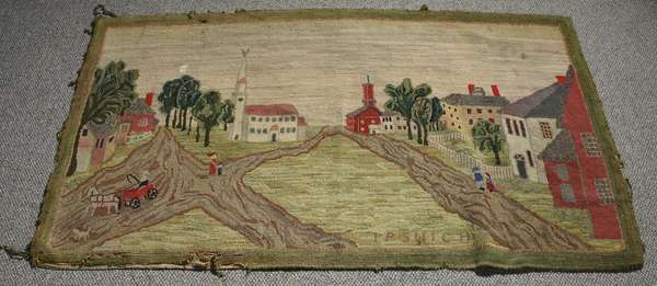Early hooked rug-The Town of Ipswich, MA., 34