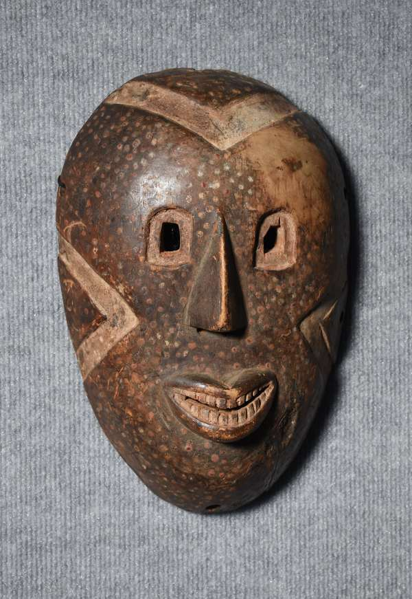 19th C. carved and painted tribal mask