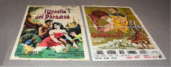 Two vintage Italian posters (each in two parts) printed by policrom S.P.A. and a.g.a.f. Firenze,