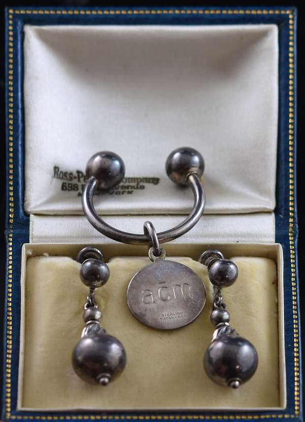Jewelry - Sterling drop down earrings with sterling Tiffany & Co. key chain (29)