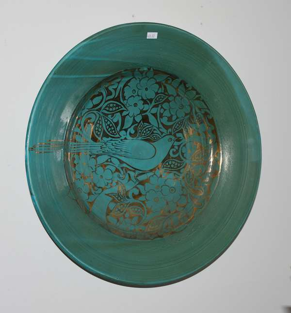 Gallery piece ceramic charger,
