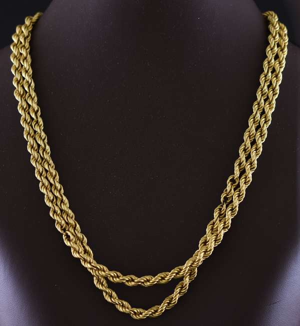 Jewelry - 18k rope chain necklace, 32.5