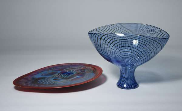 Large Murano art glass center piece signed by Seguso Viro, 11