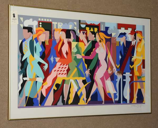 Large pencil signed and numbered lithograph by Giancarlo Impiglia,
