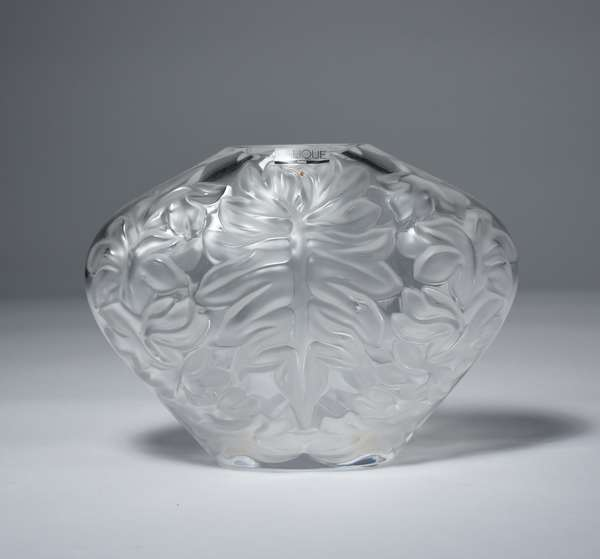 Lalique French crystal ovoid vase, 6