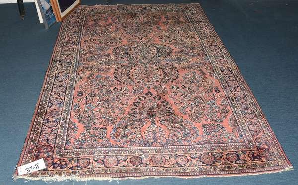Oriental scatter rug, Sarouk, 4'2