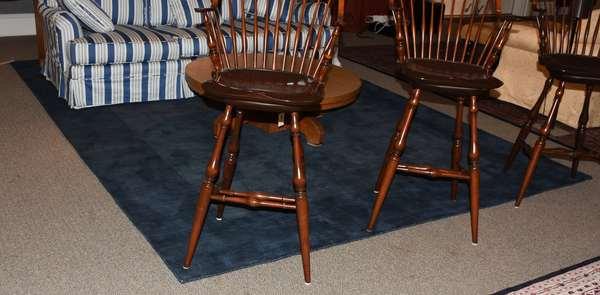 Surya Mystique cobalt wool rug, 9' x 13'