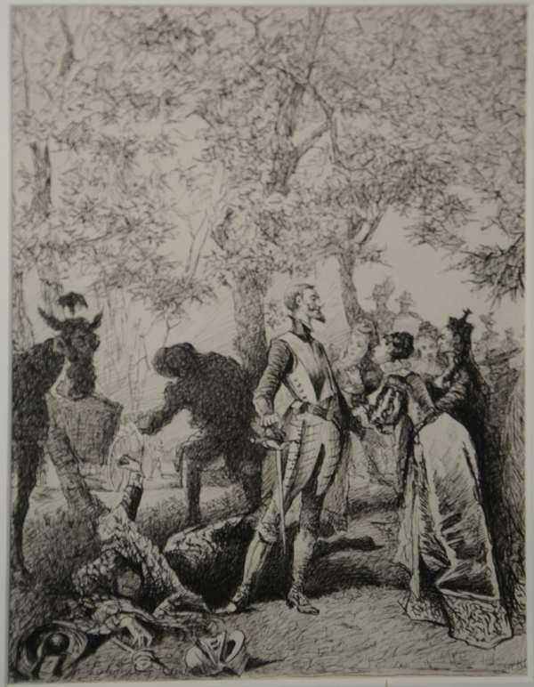 Sketch of Don Quixote (96-14)