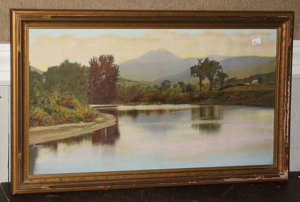 Photographic hand colored print of MT Ascutney by Sawyer, 12