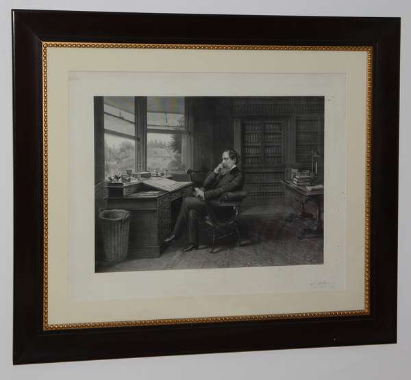 19th C. English engraving, pencil signed S. Hollyer  (96-35)
