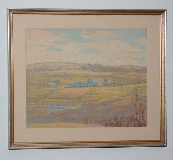 Pastel, landscape likely the Haverhill NH are, per John Page