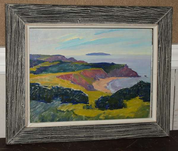 Oil on board by Henry MacGinnis,