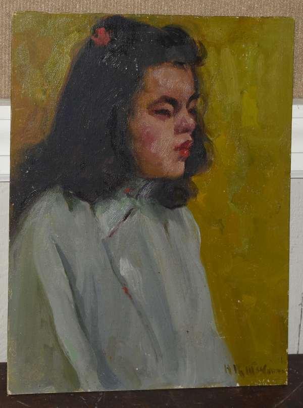 Oil on canvas board,