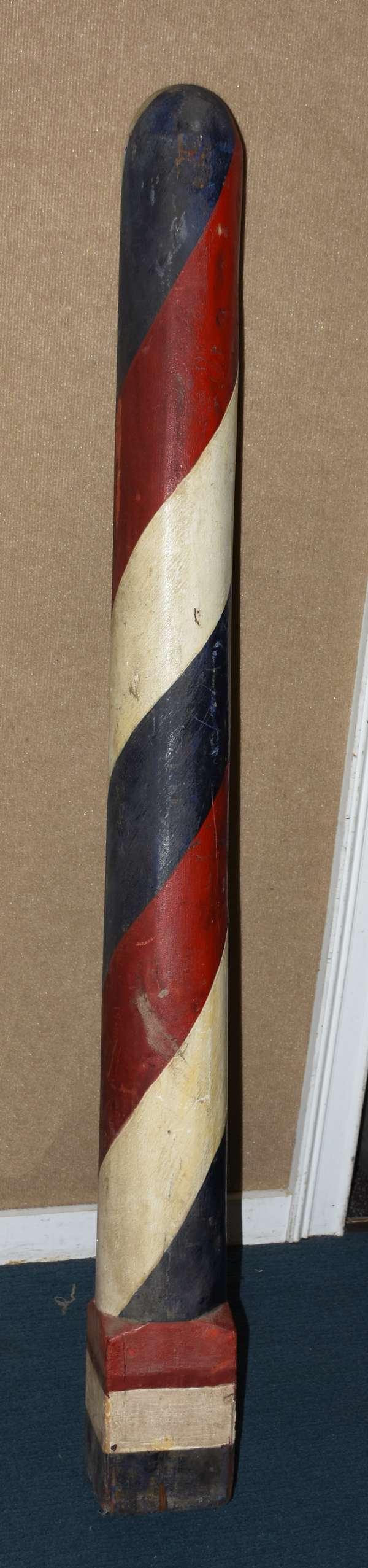 Antique barber's pole, 5'H. (105-65)