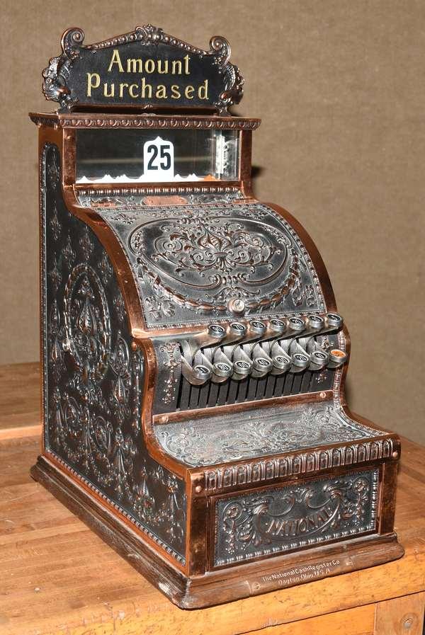 Antique National barber shop size cash register (105-64)