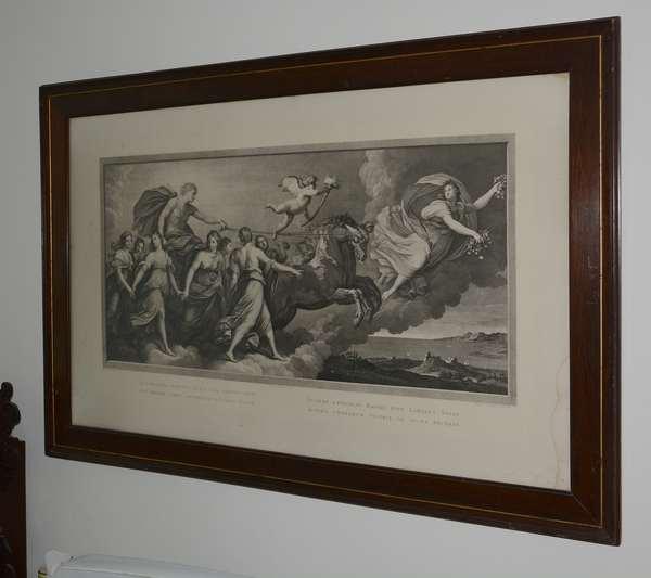 19th C. framed engraving
