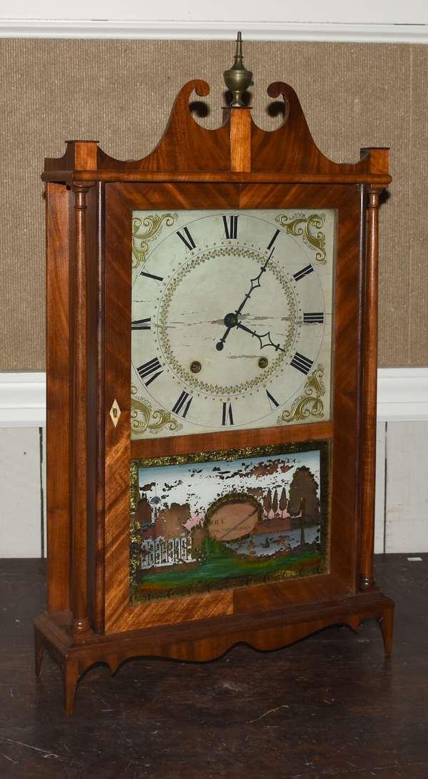 Eli Terry pillar and scroll clock (105-60)