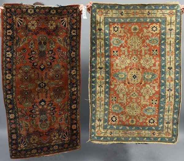Two small antique Oriental rugs, 2'7