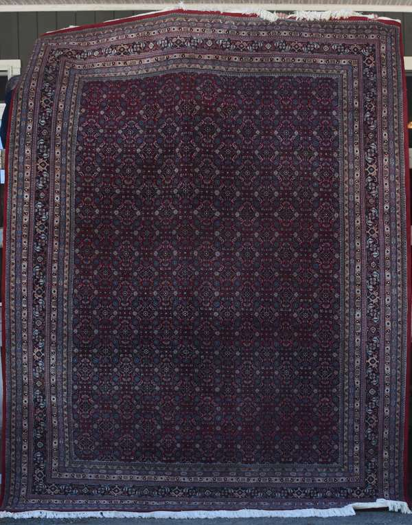 Oriental room size rug, 9' x 12'