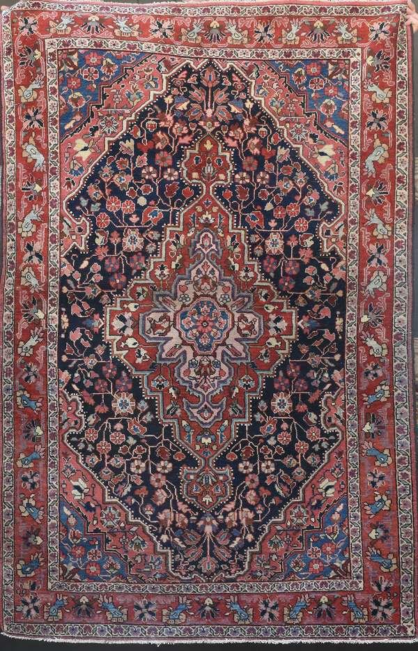 Oriental scatter rug, 4'1