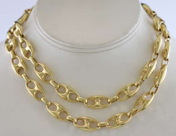 14k yellow gold Italian linked neck chain, 30