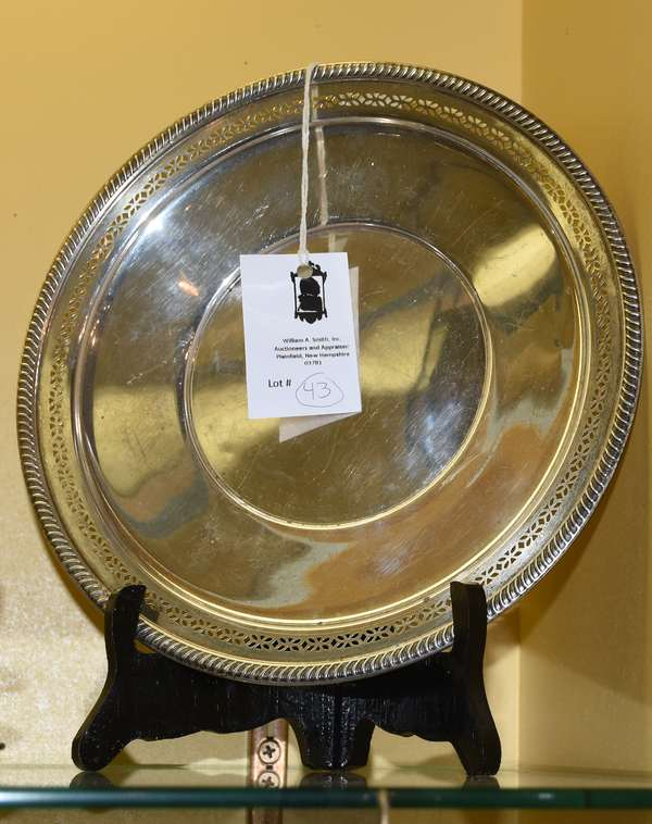 Fisher sterling plate