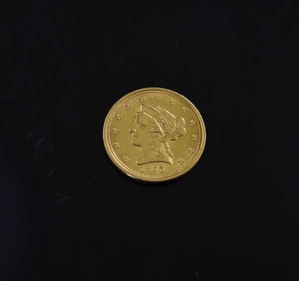 1856 $2.5 dollar gold coin