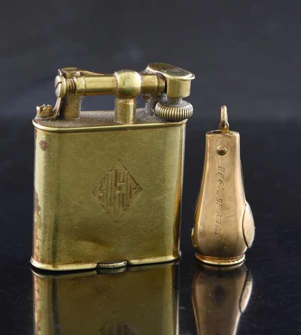 14k gold lighter and cigar cutter