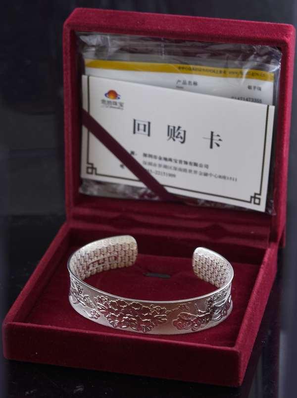 Asian sterling cuff bracelet