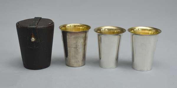 Three English silver cups
