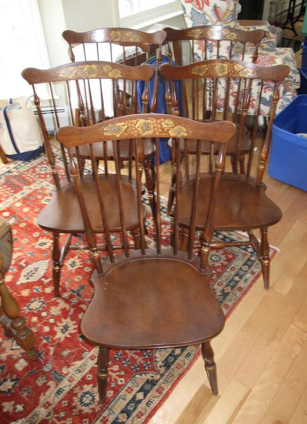 Set of five Hitchcock chairs (17-6)