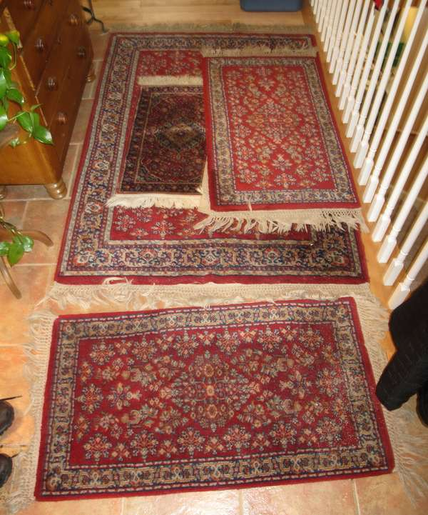 Oriental scatter rugs (four) (17-11)