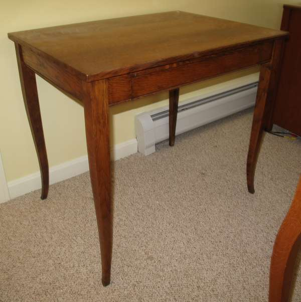 Oak one drawer table (17-14)